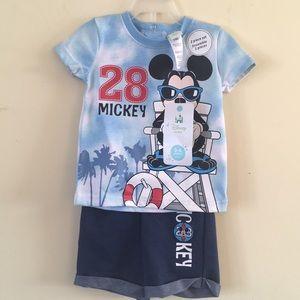 Disney baby 2 set lot of 2 piece short sets 3-6 m